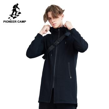 Pioneer Camp long vest men fashion brand clothing autumn winter fleece vests for men quality sleeveless jacket male AJK801488