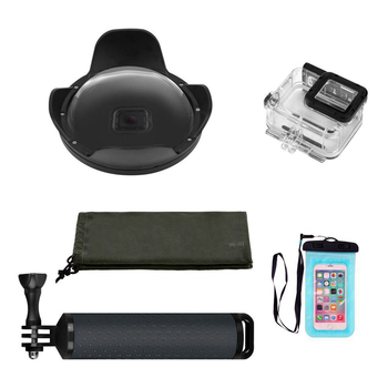 Top Deals 6 Inch Dome Port Edition with Len Hood / Waterproof Diving Housing / Floating Grip for GoPro Hero 5 Black