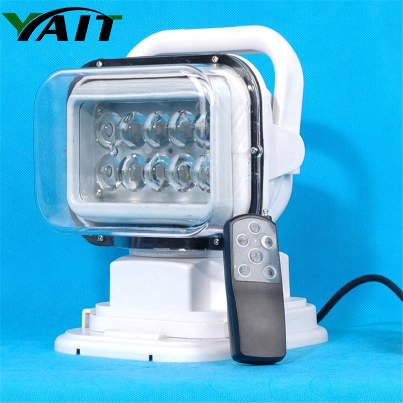 Yait 7 50W Led Remote control Searchlight 7inch Spot LED Work searching Light for TRUCK SUV BOAT MARINE Remote control light x1 keyshare dual bulb night vision led light kit for remote control drones