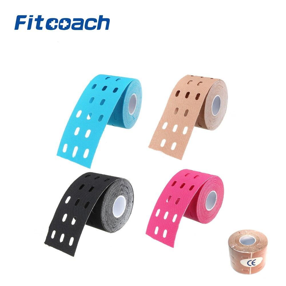 لفة واحدة 5m * 5cm العضلات علم الحركة الرياضية الرعاية فيزيو العلاجية المسامية الشريط