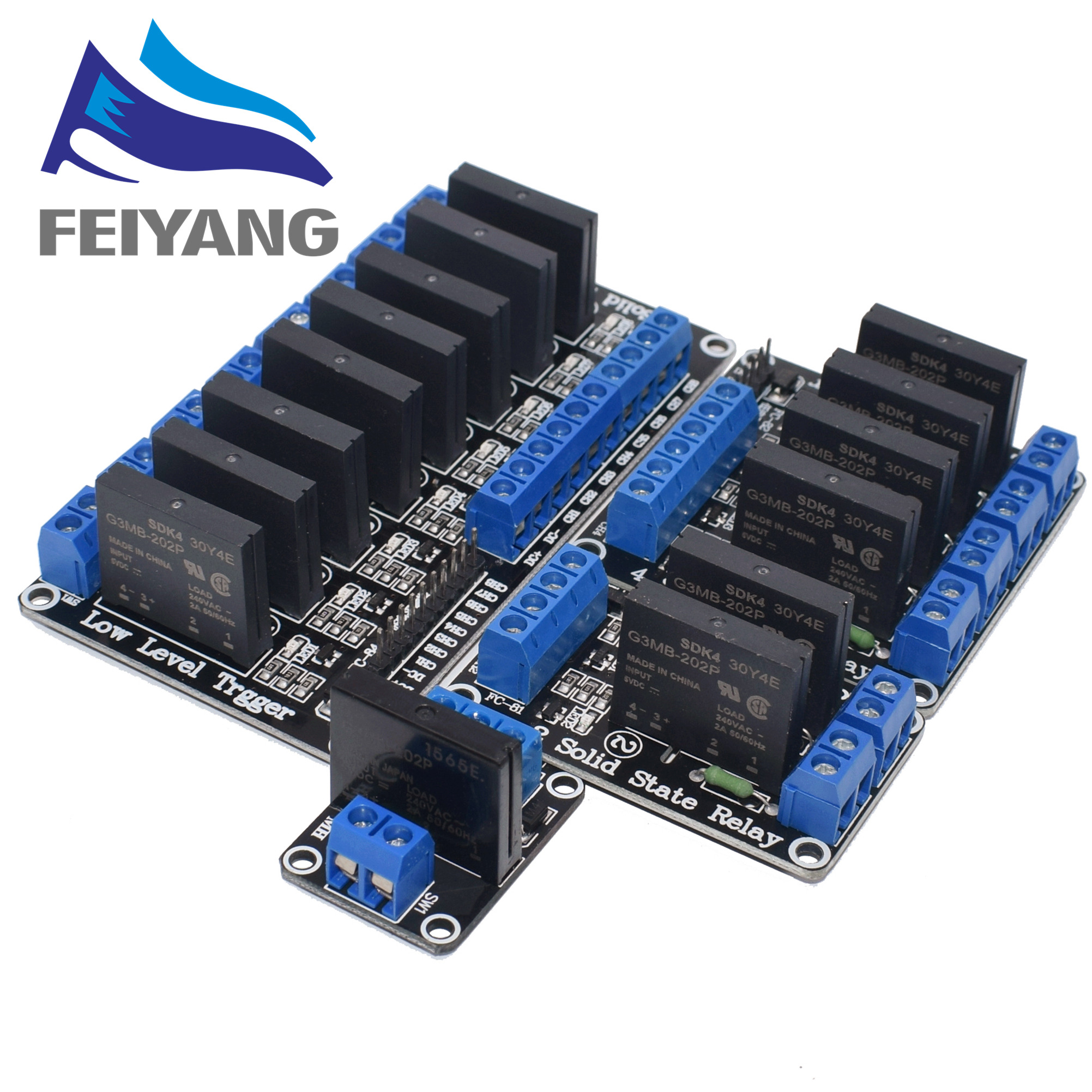 5V 1 2 4 8 Channel SSR G3MB-202P Solid State Relay Module 240V 2A Output With Resistive Fuse For ARDUINO Diy Kit