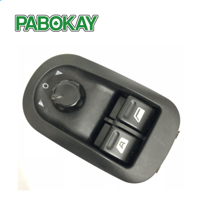 6554.WA 6554.WH 6554.58 Electric Power Window Switch <font><b>Mirror</b></font> Button Control Fit for <font><b>PEUGEOT</b></font> <font><b>206</b></font> 306 Black image