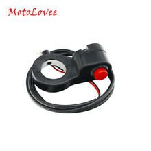 Motovee 7/8 ''Universal motocicleta manillar interruptor de arranque para la bocina Kill Button Switch e-bike Motor interruptor único(China)