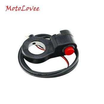 MotoLovee 7/8 Universal Motorcycle Handlebar Switch Horn Starter Kill Button E-Bike Motor Single