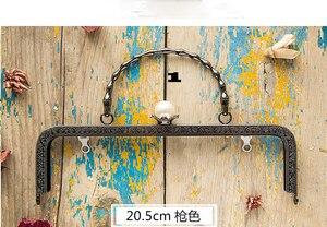 Image 5 - 20.5 Cm Metalen Frame Voor Portemonnees Meisje Zak Mond Gouden Sluiting Accessoires 3 Stks/partij