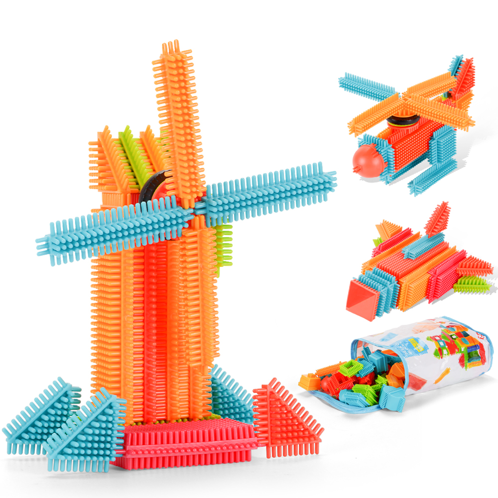150pcs amosting bristle blocks building set educational stacking bath toys for toddlers kids. Black Bedroom Furniture Sets. Home Design Ideas