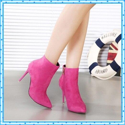 De las mujeres del tobillo botas de invierno otoño botas de señoras de la  manera zapatos 93b4b9d32b08