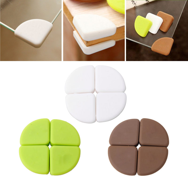 Hot Sell  4Pcs Baby Silicon Arc Corner Protector Kids Table Corner Cover Safety Guards