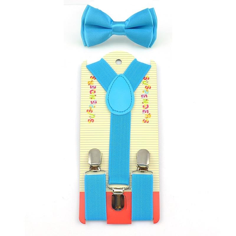 Responsible Mantieqingway Polka Dots Children Elastic Suspenders Belt Braces Kids Boys Girls 3 Clips Adjustable Y-back Suspender Bowtie Sets Men's Accessories