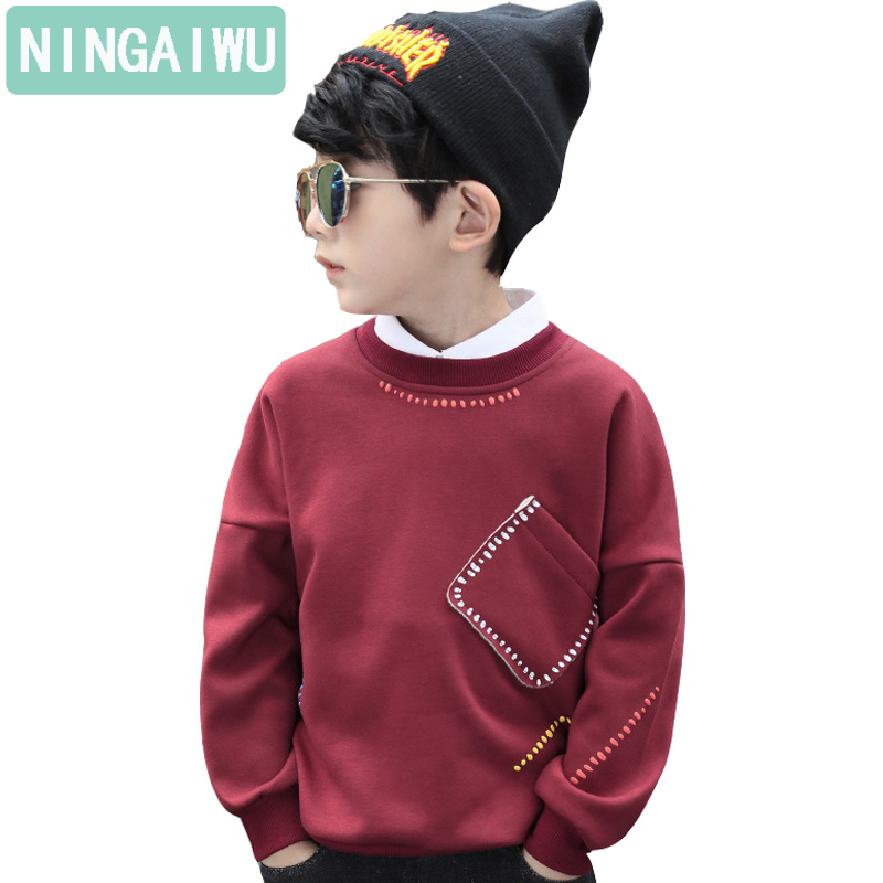 Children's clothing winter boy warm fleece jacket boy's long sleeve T-shirt girls velvet tops kids fashion sports outfits unisex
