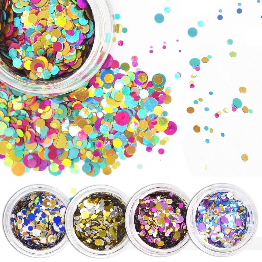ALIVER 12 színes műanyag körömlakk csillogó por színe vegyes - Köröm művészet - Fénykép 1