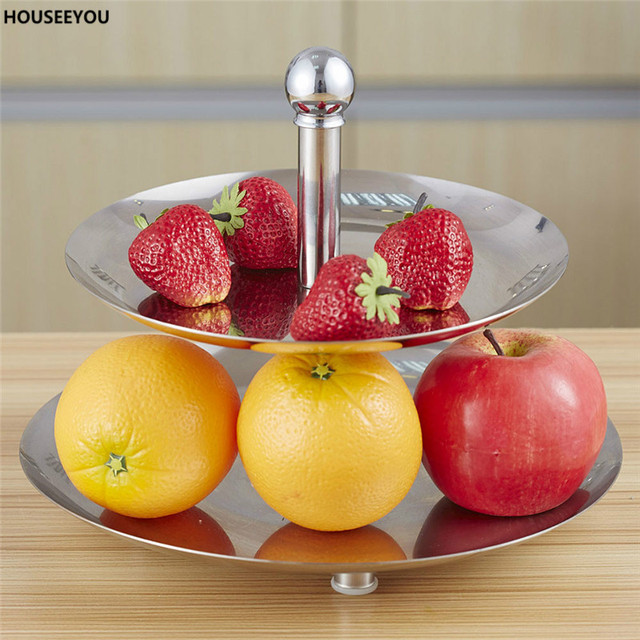 Victorias Stainless Steel 2 Layer Fruit Plate Cake Stand Afternoon Tea Dessert Dish & Victorias Stainless Steel 2 Layer Fruit Plate Cake Stand Afternoon ...