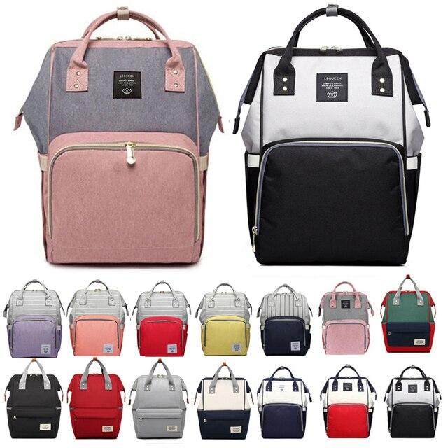 de363febfa 2019 Brand Designer Fashion Mummy Maternity Nappy Bag Large Capacity Baby  Diaper Bag Travel Backpack Nursing Bag for Baby Care