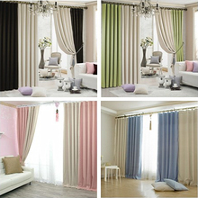 Custom Made Quality Window Curtain 2 Colors 90% Shade Thick High-Density Cloth Blackout Curtain For Bedroom blind curtain