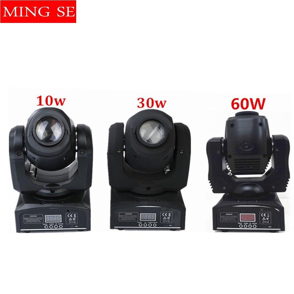 10 w/30 w/60 w led gobo efekt światła 8/11 kanałów DMX512 ruchoma głowica światło punktowe ruchoma głowica miejscu sprzęt dj w Oświetlenie sceniczne od Lampy i oświetlenie na Ming Se Store