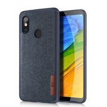 Housse de protection arrière en cuir souple antichoc en cuir + flanelle pour Xiaomi Redmi Note 5 Pro/ Mi A2/A2 Lite