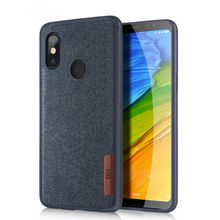Stoßfest Weiche TPU + Flanell Tuch Leder Dünne Haut Zurück Abdeckung Fall Für Xiaomi Redmi Hinweis 5 Pro/ Mi a2/A2 Lite