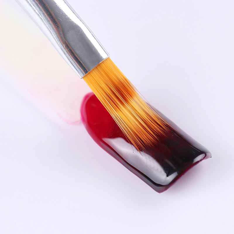 1 Unid Gradient Painting Pen Drawing Brush Negro Mango De Madera Manicura UV Gel Nail Art Tool