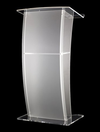 Free Shipping Acrylic Pulpit With Four Crystal Columns / Modern Design Acrylic / Crystal Pulpit Of The Church Logo Customize