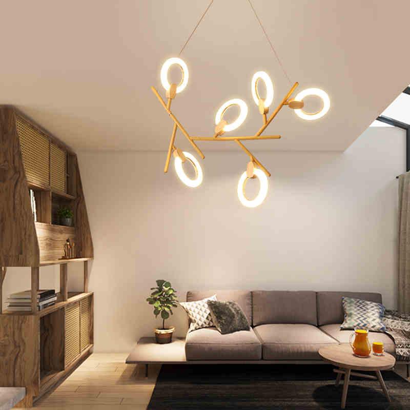 Işıklar ve Aydınlatma'ten Kolye ışıkları'de Modern LED avize tavan İskandinav aydınlatma yatak odası asma lambaları ev deco aydınlatma armatürleri oturma odası asılı ışıklar title=