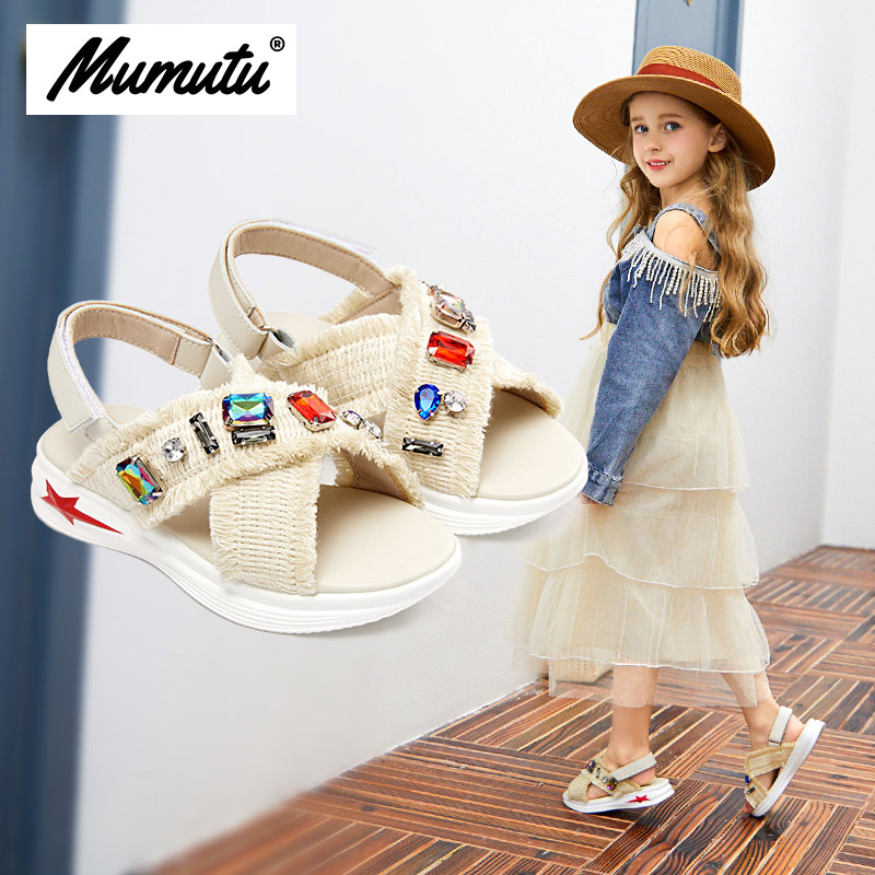 Odorless soft standard size children like summer shoes girls breathable anti-wear casual rhinestone light scandal MM1981Odorless soft standard size children like summer shoes girls breathable anti-wear casual rhinestone light scandal MM1981
