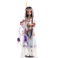 Princess Anna bjd doll sd 60 cm 1/3 native American indian doll reborn tan girl toys collection