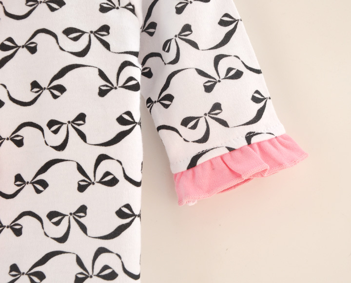 Spring Autumn Baby Girl Rompers Print Infant Newborn Jumpsuit Overal Long Sleeve Romper & Hat Bow Baby Girls Clothing Sets