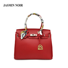 bags handbags women famous brands silver lock bag designer High quality PU leather shoulder bag Fashion tote bag with scarf