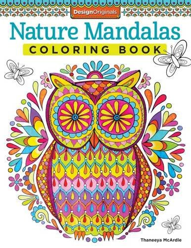 Naturaleza Mandalas Coloring book, adultos libros para colorear ...