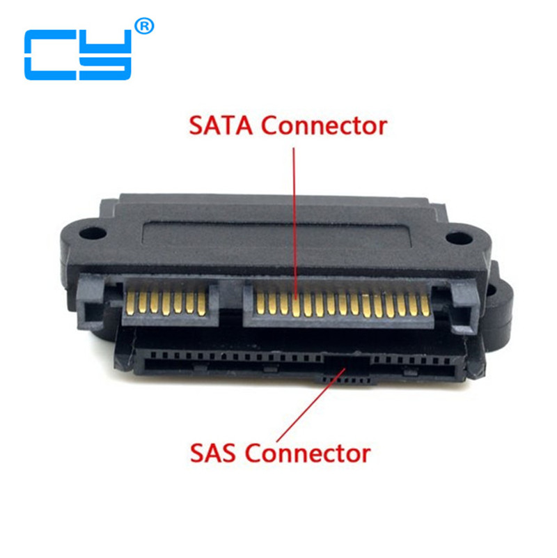 2PCS/lot SFF-8482 SAS 22 Pin to 7 Pin + 15 Pin SATA Hard Disk Drive Raid Adapter with 15 Pin Power Port Free shipping hard drive for ca07237 e110 ca06910 e270 ca07237 e510 ca07237 e410 3 5 1tb 7 2k sas well tested working