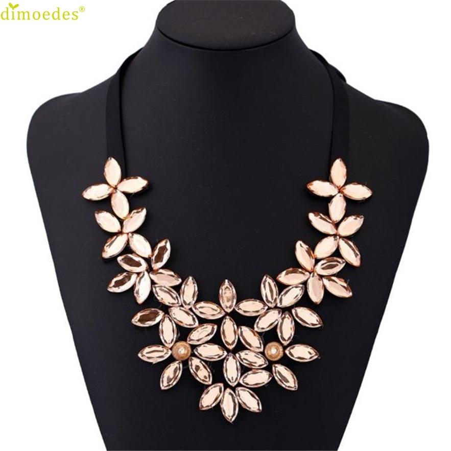 Diomedes Koly nový náhrdelník ženy květinový řetízek řetízek krátký náhrdelník přívěsek křišťálový choker robustní límec náhrdelník dárek choker