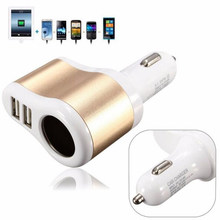 Dewtreetali 12V Universal Dual Ports Usb One Way Car Cigarette Lighter Power Socket Charger Adapter High Quality(China)