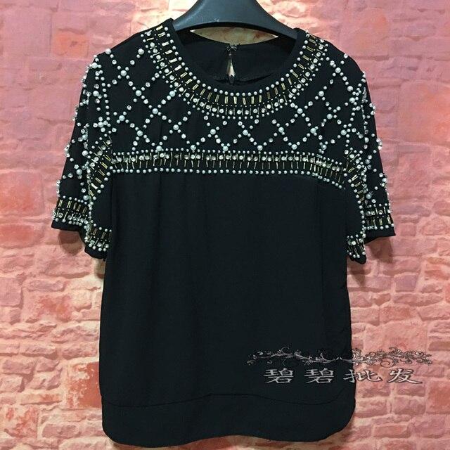 26c922886 Tumblr venda camisetas tops aristocrática high-end personalizado 2017  carregado Novo Luxo Pesados Evening das