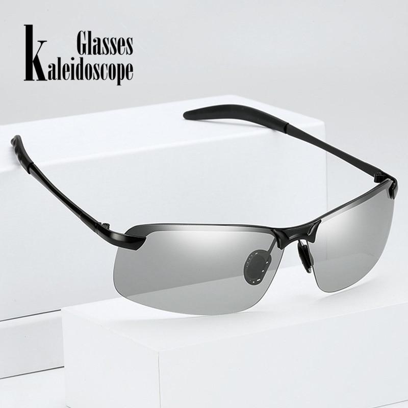 Caleidoscópio Óculos Polarizados Fotocromáticas Óculos De Sol Dos Homens  Polarizados Descoloração óculos de Sol Masculino óculos de Condução Óculos  Anti- ... 2db6d30457