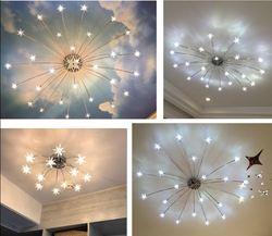 Nordic lampy nowoczesne minimalistyczne lampy sufitowe led osobowość twórcza lampa do salonu domu pokój dziecięcy ciepła lampka do sypialni