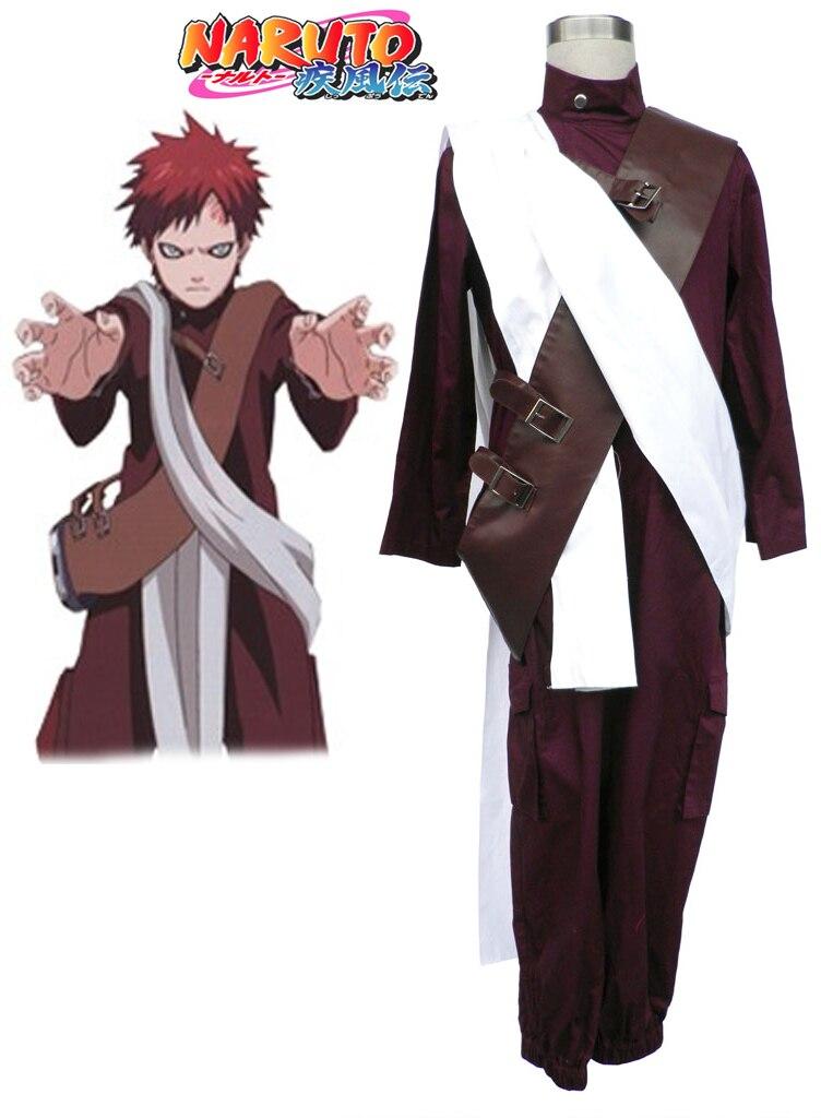 Free Shipping font b Naruto b font Shippuden Gaara Jumpsuit Anime font b Cosplay b font