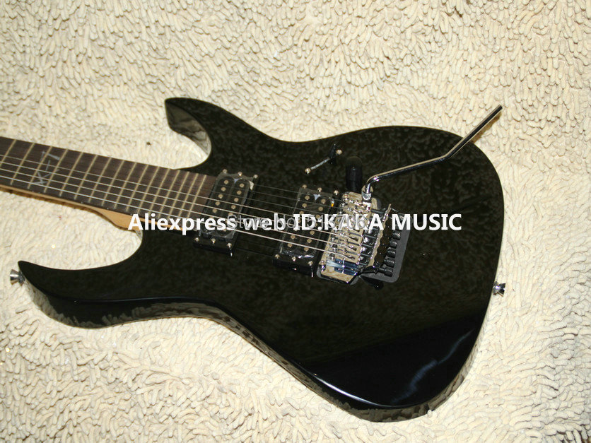wholesale guitars black custom shop 7 strings electric guitar high quality free shipping in. Black Bedroom Furniture Sets. Home Design Ideas