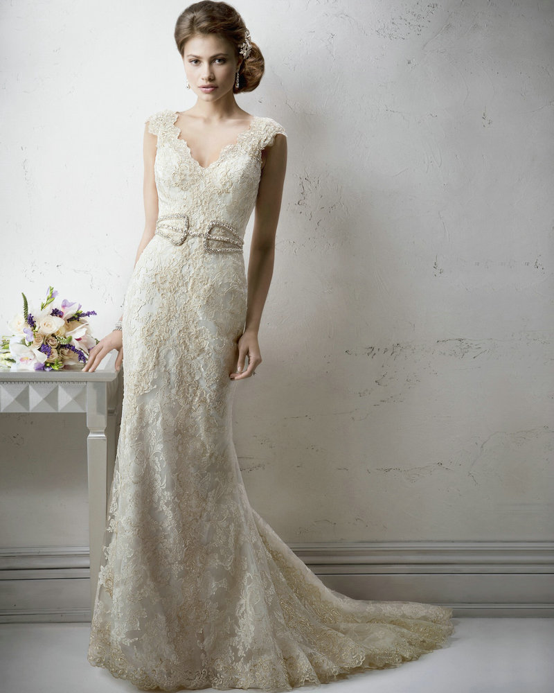 list detail white and gold wedding dresses gold wedding dress Zoom