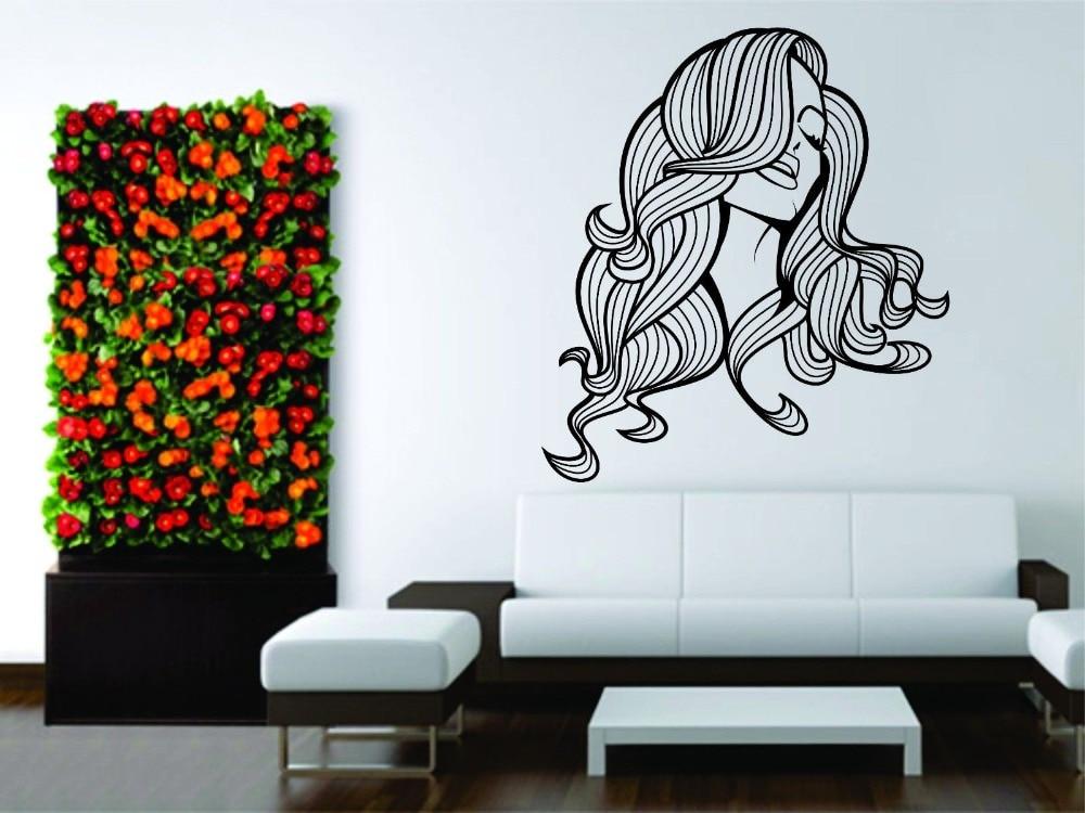 Muurstickers vinyl decal decor vrouwen meisje kapsalon sexy