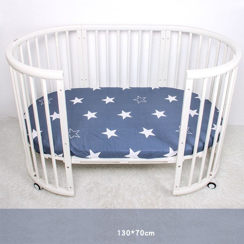 70*130cm Baby Bed Crib Sheet Mattress Cover Muslin Tree Crown Cloud Home Textile Bed Sheets Covers Protector crib sheet bedding