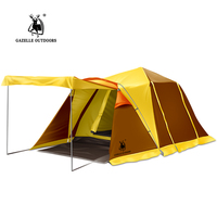2 Doors Automatic Speed Open Camping Tents Throwing Up Waterproof BeachTent Large Family Double Layer Strong