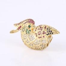 Alta Calidad Lindo Circón Oro de Aves Encantos Para Hacer La Joyería Del Arte de Diy de Cobre Conector Para Las Pulseras Collares Bijoux Berloques