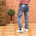 Мальчики джинсовые брюки 2016 осень Hitz Корейской версии большая детская одежда детская джинсы Тонкий джинсы ноги