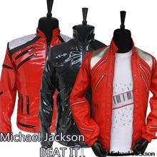 Лидер продаж, куртка в стиле панк на Красной молнии с Майклом Джексоном, MJ Beat It, Повседневная модная стильная куртка в американском стиле, имитация верхней одежды, 3 цвета