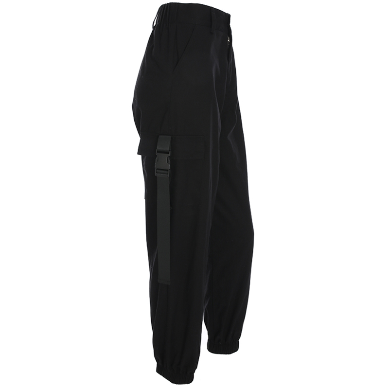 HEYounGIRL Streetwear Cargo Pants Women Casual Joggers Black High Waist Loose Female Trousers Korean Style Ladies