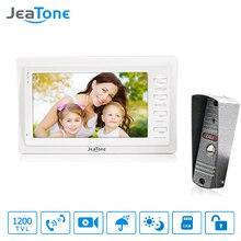 """Jeatone 7 """"campanilla conectada Con Almacenamiento Color Blanco HD 1200TVL Cámara Kit de Seguridad Para El Hogar Sistemas de Intercomunicación de Vídeo Portero Automático"""