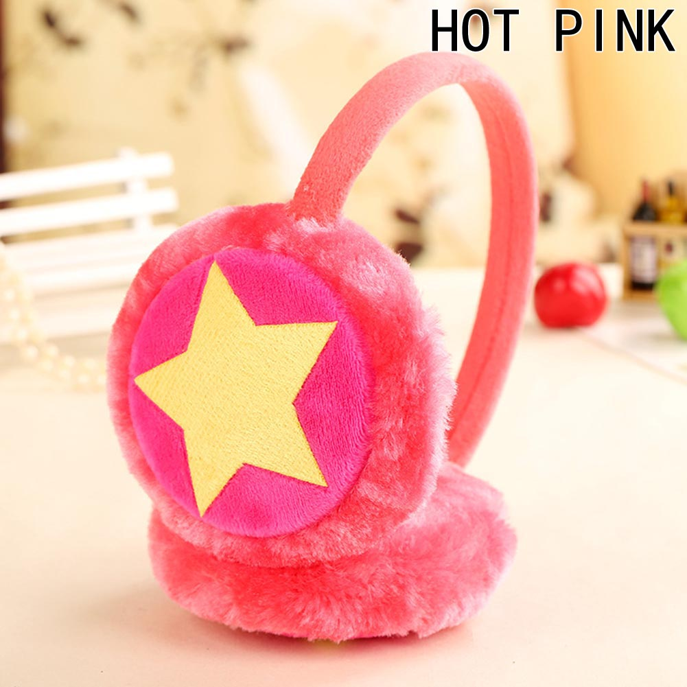 Fashion New Girls Boys Winter Cute Cartoon Plush Earmuffs Kids Ear Cap Warm Star Shape Ear Muffs 6 Colors
