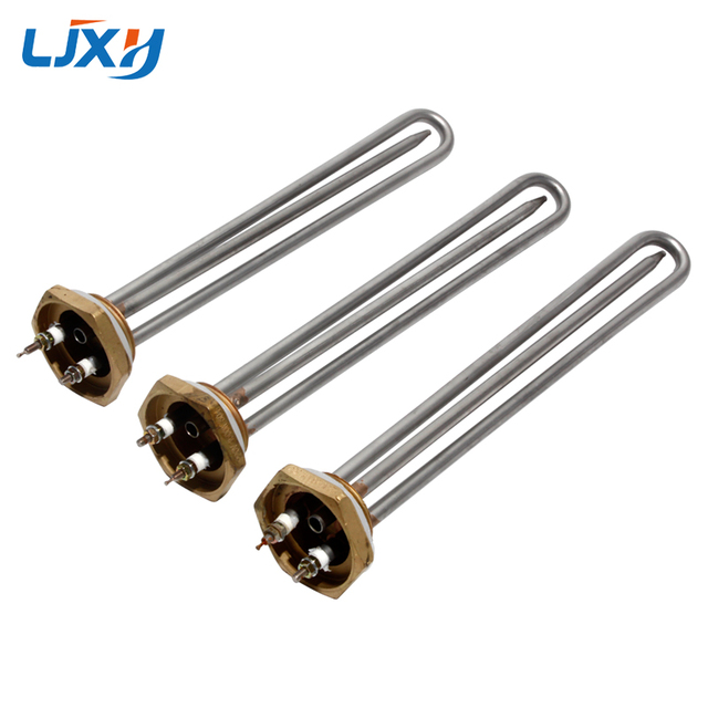 LJXH 220V 1KW/1.5KW/2KW Electric Water Tubular Heater Immersion Heating Element 1 1/4 Inch Thread with Probe Tube