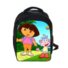Dora the Explo prints Backpack Students School Bag For Girls Boys Rucksack mochila children Backpack Private customize(China)