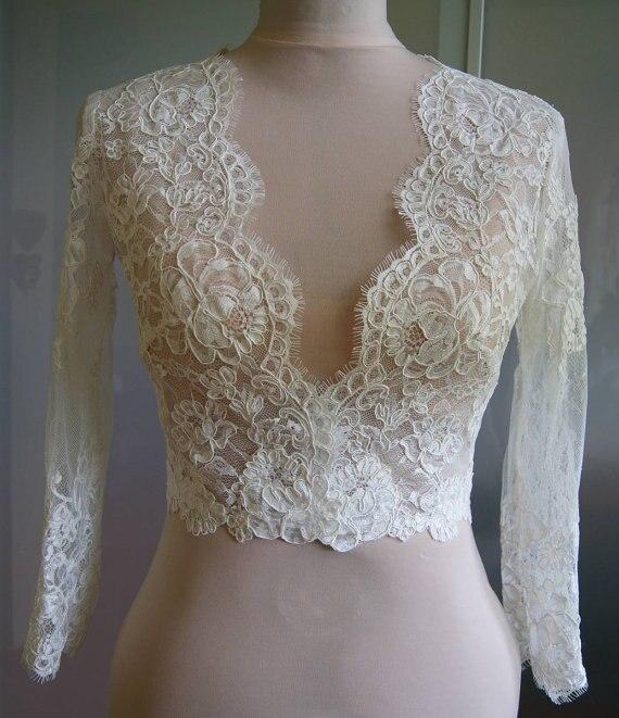 new arrive white or ivory long sleeve lace bolero jacket bridal bolero wedding jacket wedding. Black Bedroom Furniture Sets. Home Design Ideas